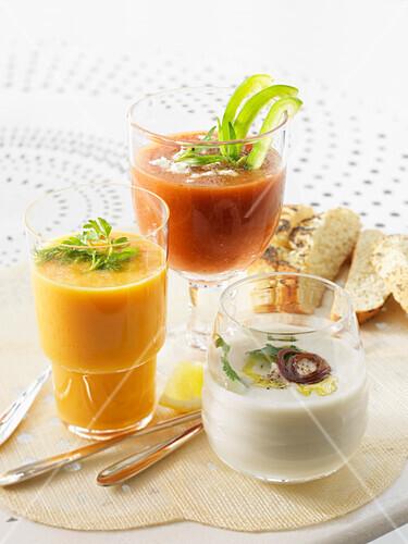 Three cold soups