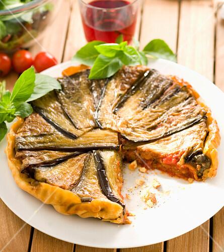 Eggplant and lamb Tatin tart