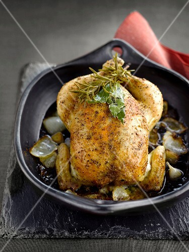 Chicken with mushroom, cashew nut and roquefort stuffing