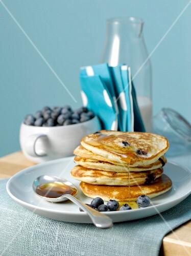 Blueberry Scottish pancakes
