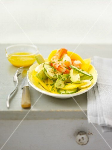 Exotic shrimp salad