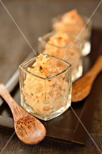Potted fresh and smoked salmon