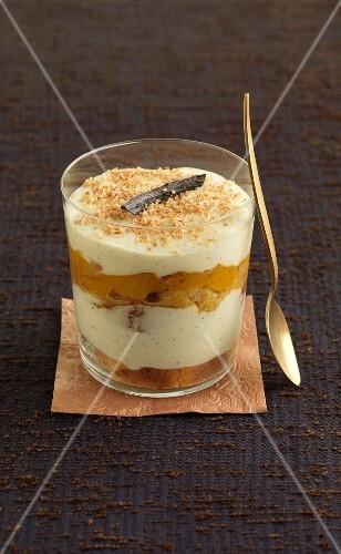 Vanilla-flavored mango Tiramisu