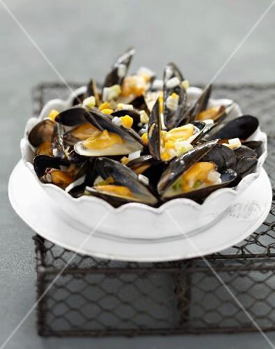 Mussels à la poulette