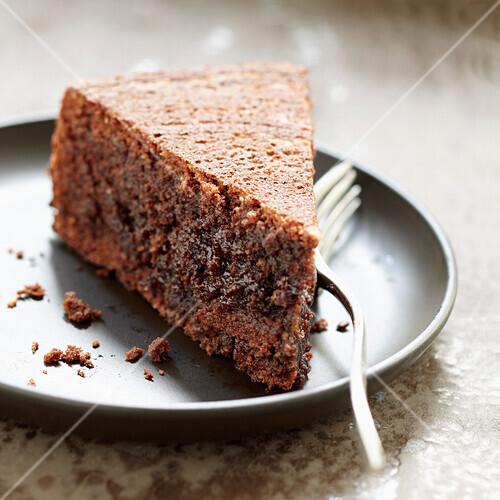 Moist chocolate and almond cake