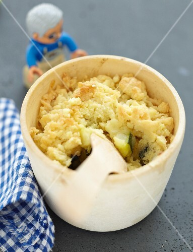 Zucchini and Comté savoury crumble