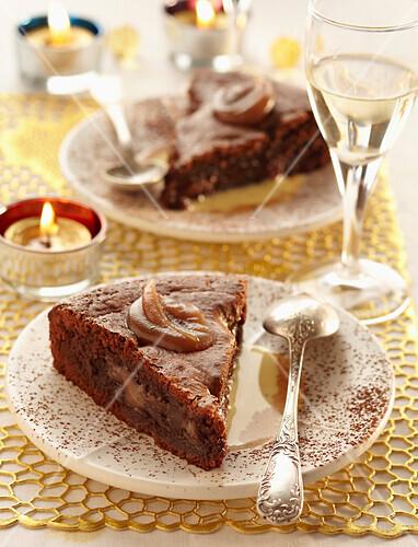 Soft chestnut cream cake