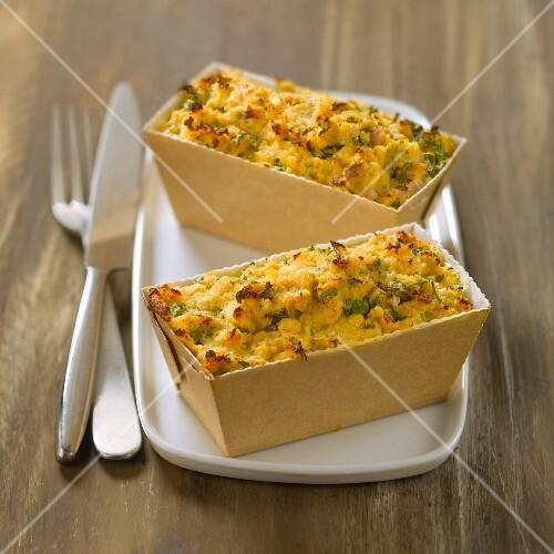 Crab and herb savoury cake