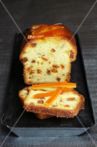 Crystallized orange fruit cake
