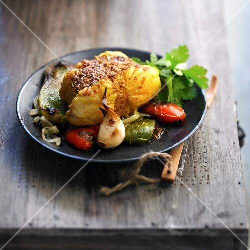 Monkfish and bell pepper Tajine