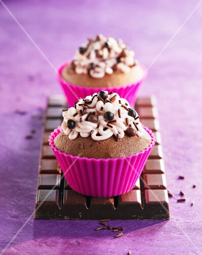 Chocolate and pepper cupcakes