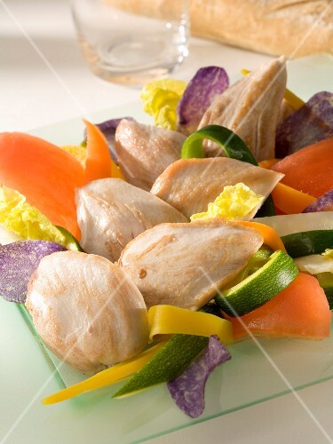 Quail's fillets with vegetables