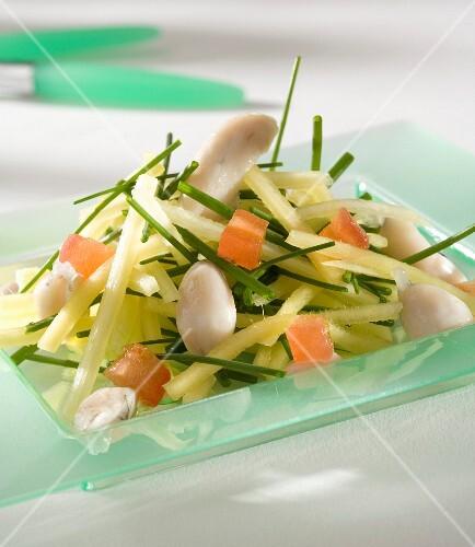 Crisp green papaya and frog's leg salad