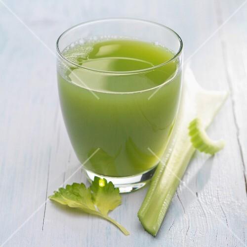 Celery stalk,cucumber and lettuce juice