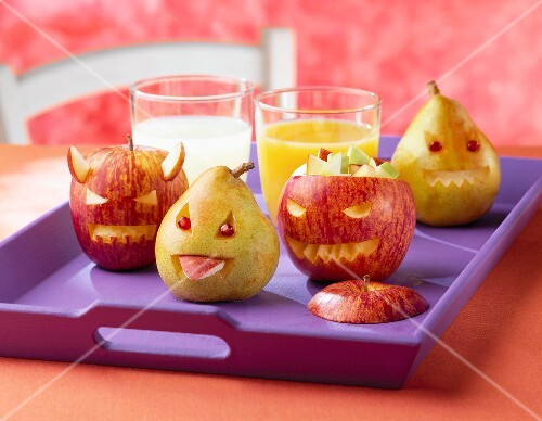 Halloween apples and pears