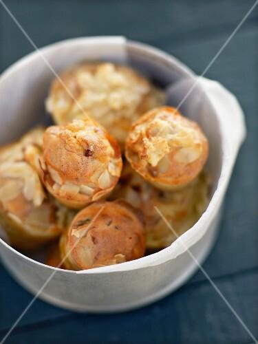 Reblochon and almond mini muffins