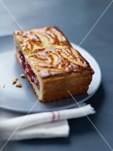 Strawberry Basque cake