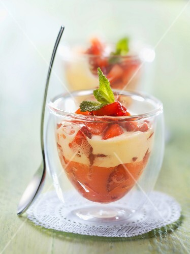 Strawberry zabaglione
