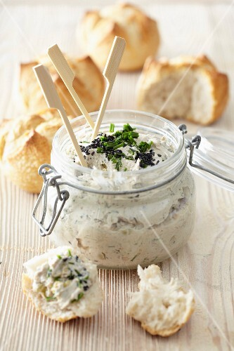 Sardine,fromage frais and olive spread