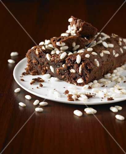Puffed rice chocolate brownies