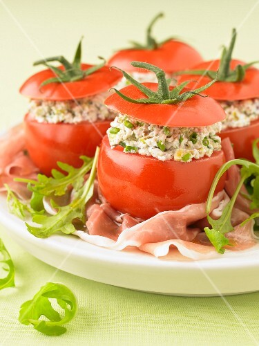 Cold stuffed tomatoes
