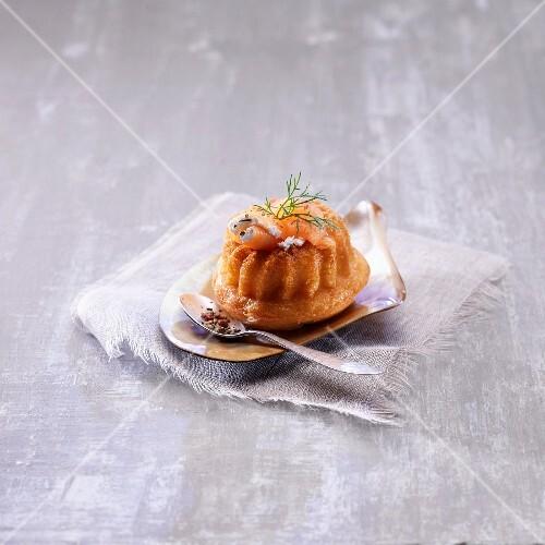 Salmon and lemon savoury Baba