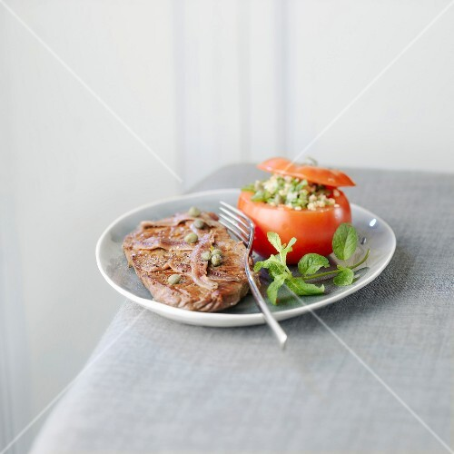 Provençal-style sirloin steak