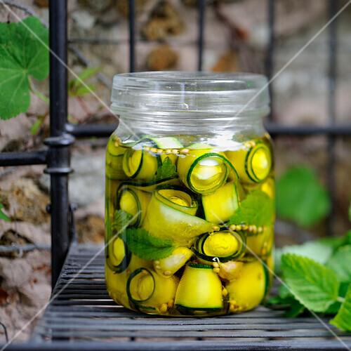 Marinated zucchinis