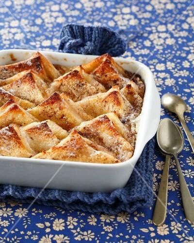 Calva bread pudding