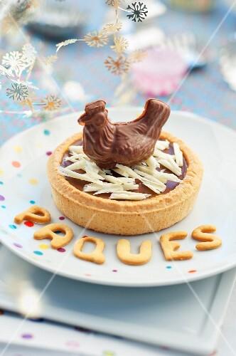 Easter chocolate tartlet