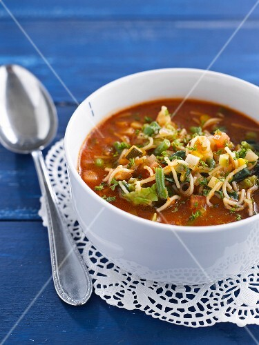 Minestrone with vermicellis