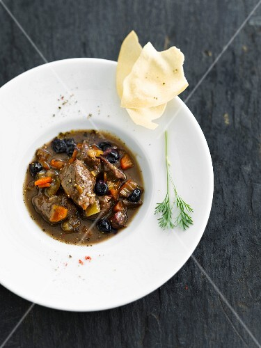 Beef and olive stew