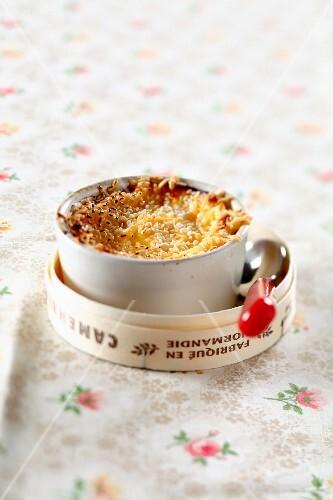 Camembert savoury Crème brûlée