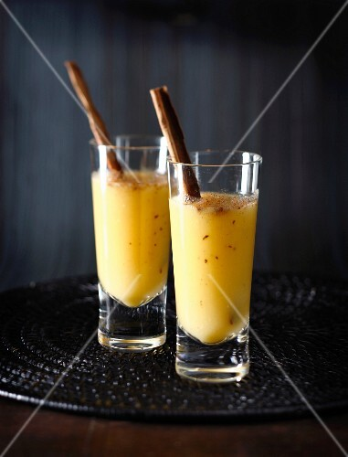 Spicy pineapple,orange and banana smoothie
