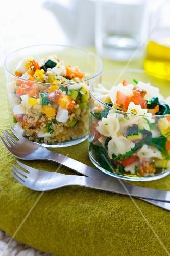 Tabbouleh Verrine and pasta salad Verrine