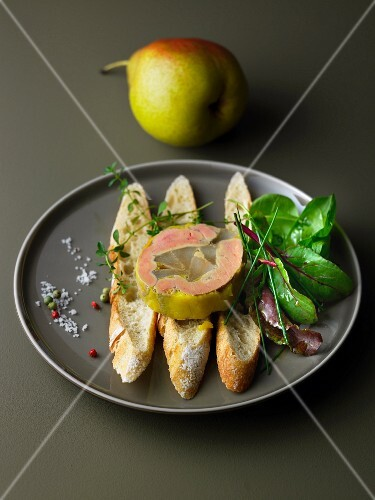 Foie gras with pears