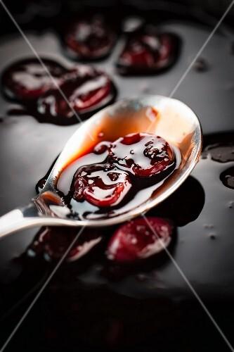 Stewed griotte cherries