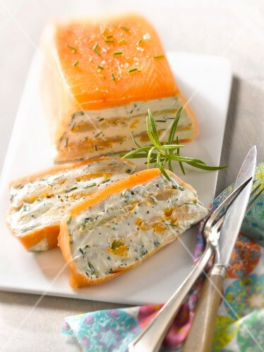 Fish and cream cheese terrine