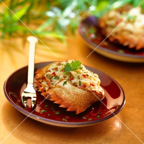 Spicy stuffed crab