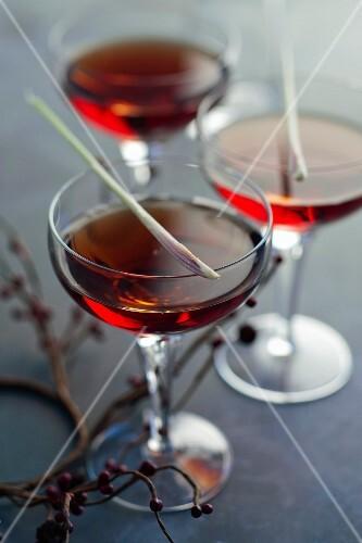 Sangria and citronella cocktail