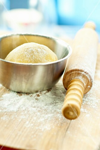 Dough ball and a rolling pin