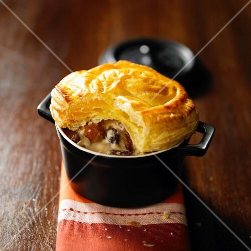 Pheasant and morel pie