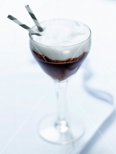A Viennese-style chocolate frappé from the hotel bar of the Royal Monceau, Paris