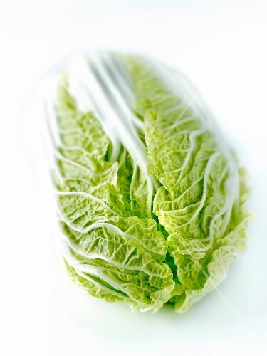 Chinese cabbage on a white background