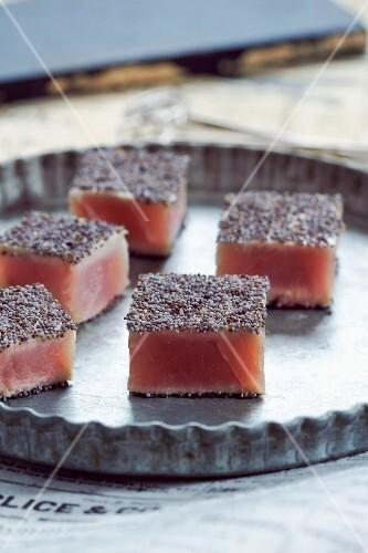 Tuna and poppyseed bites