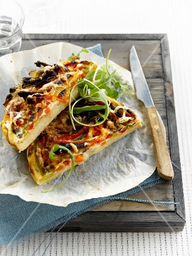 vegetarische quiche bild kaufen 60211462 stockfood. Black Bedroom Furniture Sets. Home Design Ideas