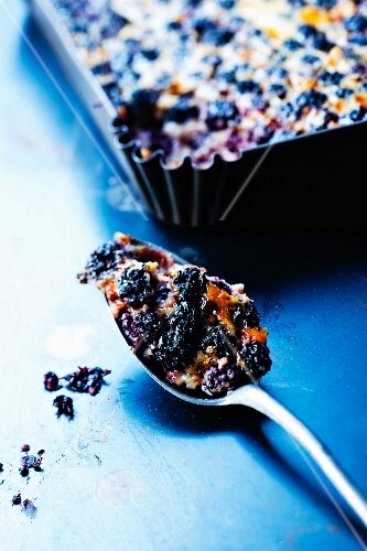 Blackberry batter pudding