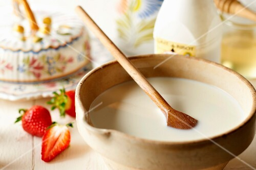 Bowl of buttermilk