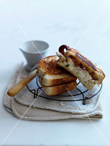 Two meat toasted sandwiches