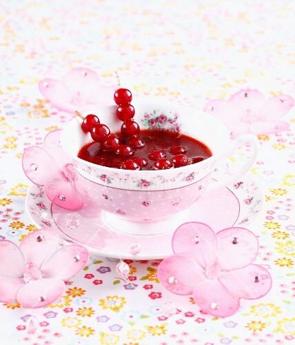 Redcurrant soup